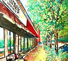 Journey's Coffee House, Impressionist by HannahTiffinArt
