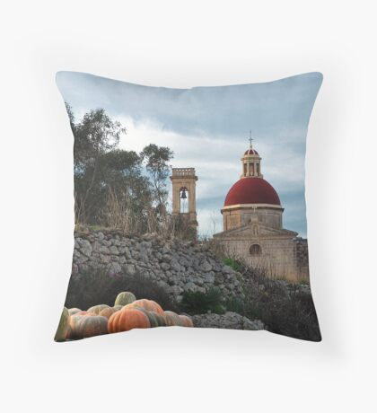 Mtahleb Chapel Revisited Throw Pillow