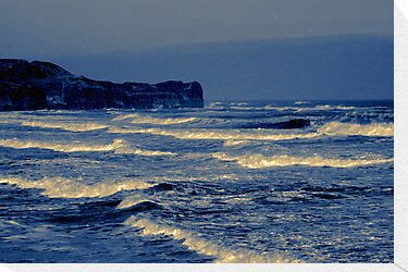 Waves - Sandsend  (Split Toned) by Trevor Kersley