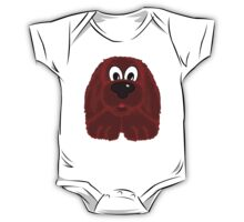 Children's Red Fuzzy Puppy Dog One Piece - Short Sleeve