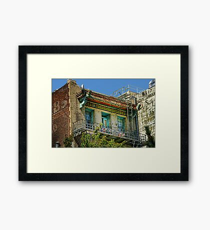 Living High in China Town Framed Print