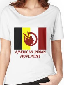 The American Indian Movement - Flag Women's Relaxed Fit T-Shirt