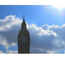 Rays of sun on Big Ben Photographic Print