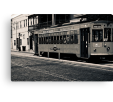 Trolley Car Duotone Image 5 Duotone Experience Canvas Print