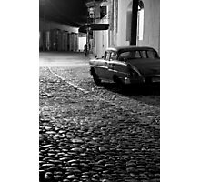 Cobble stone calle of Trinidad Photographic Print