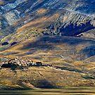 Castelluccio village, Piano Grande, Umbria, Italy by Andrew Jones