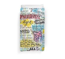 """Marianne Williamson Quote - """"Our deepest fear is not that we are inadequate"""" Duvet Cover"""