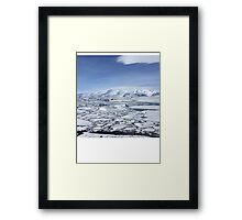 Iceland Photography Icy square  Framed Print