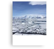 Iceland Photography Icy square  Canvas Print