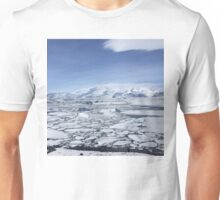 Iceland Photography Icy square  Unisex T-Shirt