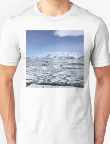 Iceland Photography Icy square  T-Shirt