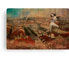 a Fairy on the roof... Canvas Print