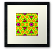 Colorful abstract modern pattern Framed Print