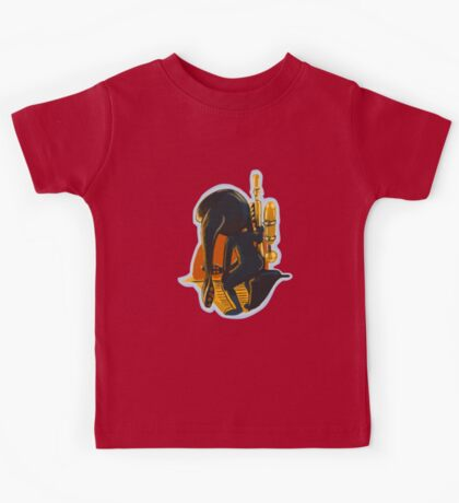 Squid girl looking into the Sunset Kids Tee