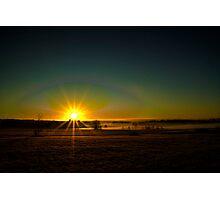 Misty Sunrise Photographic Print