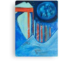 Lunar city Canvas Print