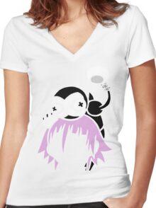 Crona & Ragnarok - Soul Eater Women's Fitted V-Neck T-Shirt