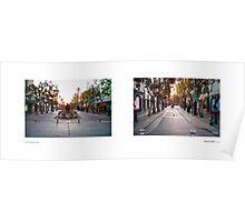 3rd Street Promenade, Santa Monica, California, USA...narrowed. Poster