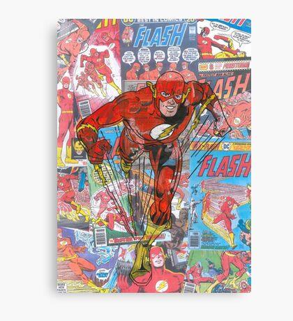 Vintage Comic Flash Canvas Print