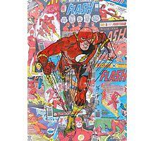 Vintage Comic Flash Photographic Print