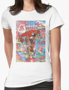 Vintage Comic Flash Womens Fitted T-Shirt