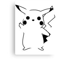 Pikachu - Black Canvas Print
