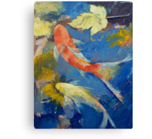 Autumn Koi Garden Canvas Print