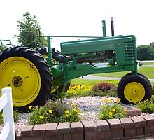 ANTIQUE JOHN DEERE TRACTOR by Pauline Evans