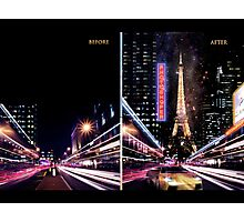 paris progress, before and after Photographic Print