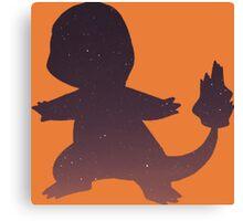 Pokemon - Space Charmander Design Canvas Print