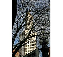 Smith Tower Thru The Lace Photographic Print