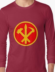 Workers Party of Korea emblem symbol Long Sleeve T-Shirt