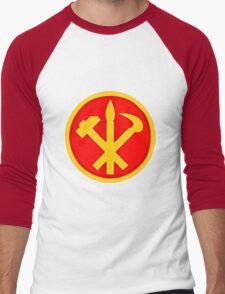 Workers Party of Korea emblem symbol Men's Baseball ¾ T-Shirt