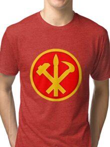 Workers Party of Korea emblem symbol Tri-blend T-Shirt