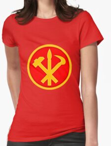 Workers Party of Korea emblem symbol Womens Fitted T-Shirt