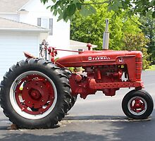 ANTIQUE FARMALL TRACTOR by Pauline Evans