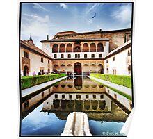 Granada. Alhambra. Patio de los Arrayanes Poster