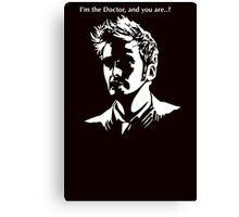 Tenth Doctor Who Canvas Print