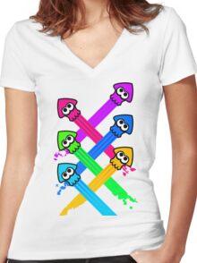 Splattack Women's Fitted V-Neck T-Shirt