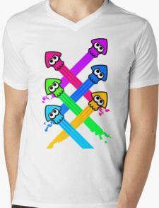 Splattack Mens V-Neck T-Shirt