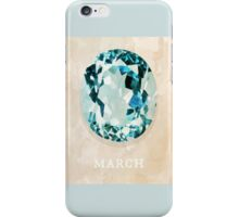 Watercolor Birthstone Gems, March iPhone Case/Skin