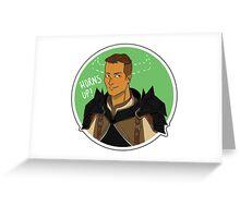 Krem Horns Up! Greeting Card