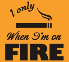 I Only Smoke When I'm on Fire by jeffale5