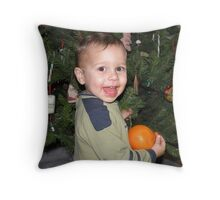 Christmas excitement Throw Pillow