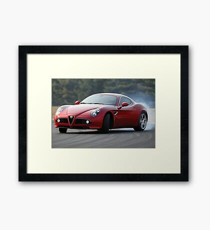 The Alfa Romeo 8C Framed Print