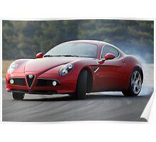 The Alfa Romeo 8C Poster
