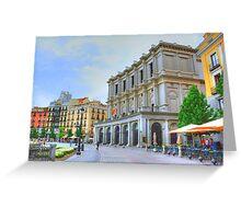 Madrid - Plaza de Oriente. Teatro Real. Greeting Card