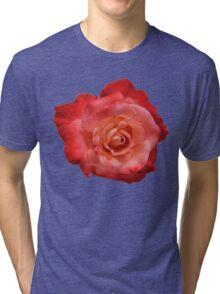 Ombré Red Garden Rose I - Hipster/Pretty/Trendy Flowers Tri-blend T-Shirt