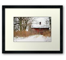 Yankee Road Barn Framed Print