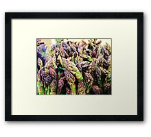 Asparagas In the Raw Framed Print